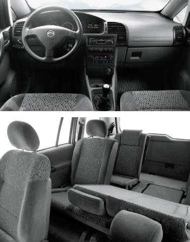 Chevrolet zafira espaço interno