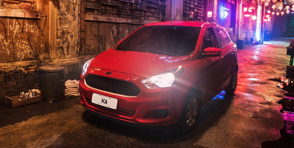 Novo Ford Ka frente bonita