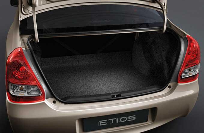 Etios, ótimo espaço para bagagem