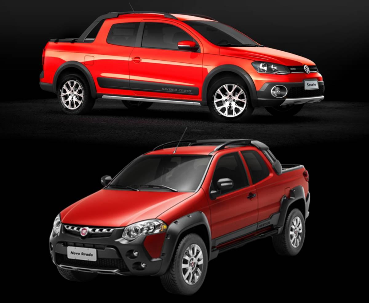 Saveiro Cross: com a concorrente Fiat Strada